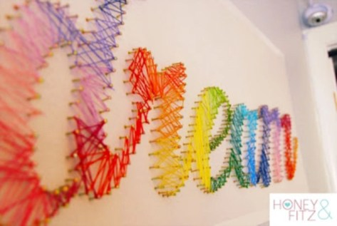 Make your own string art that look artsy for your space 15