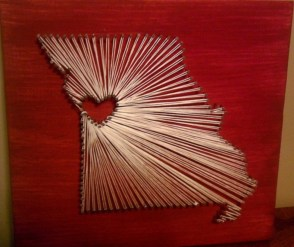 Make your own string art that look artsy for your space 40