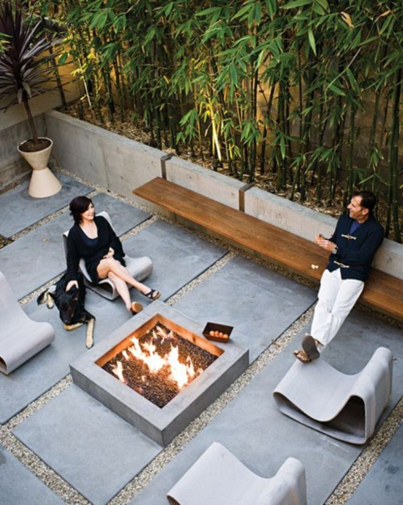 Modern outdoor clean lined patios ideas