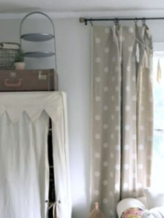 On a budget make your own curtain 09