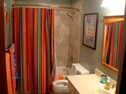 On a budget make your own curtain 10