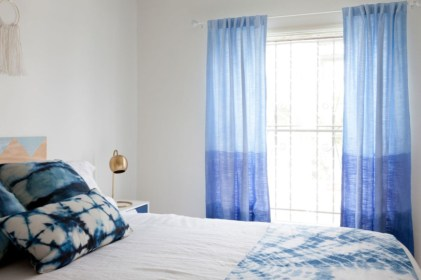On a budget make your own curtain 14