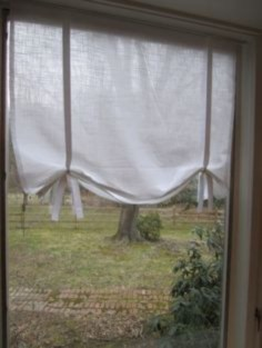 On a budget make your own curtain 34