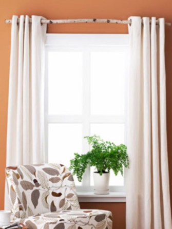 On a budget make your own curtain 40