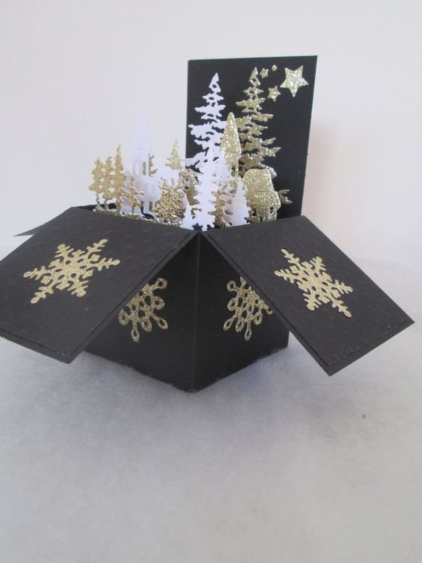Pop up box card christmas gift for friend