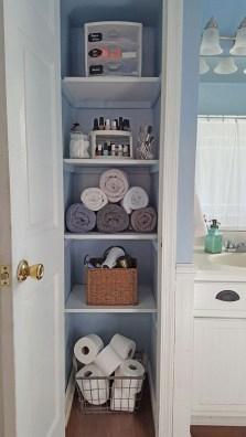 Simple and easy diy storage ideas for amazing bathroom 05