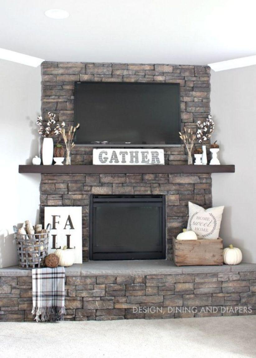 Simple diy fireplace rustic home decor