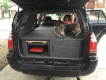 Suv camper sleeper conversion with table