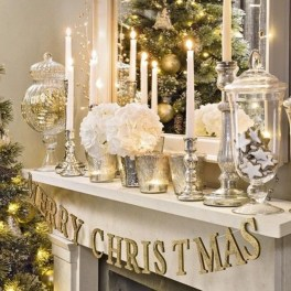 Ways to decorate fireplace for christmas 28