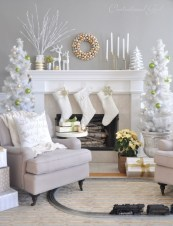 Ways to decorate fireplace for christmas 29