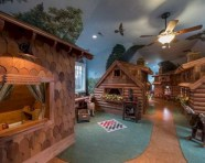 Creative log cabin themed bedroom for kids 10
