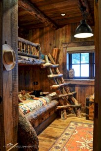 Creative log cabin themed bedroom for kids 15
