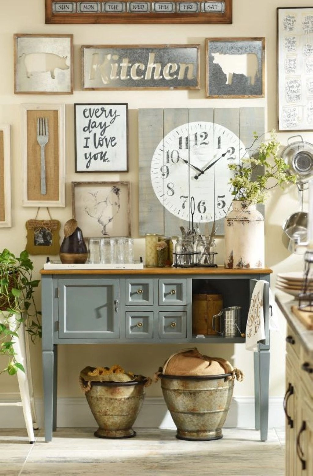 31 DIY Ideas to Add Rustic Farmhouse Feel to your Kitchen ...