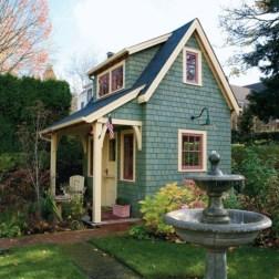Fabulous backyard playhouse to delight your kids 04
