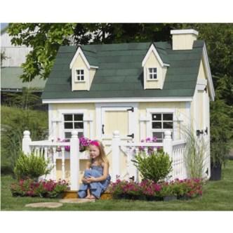 Fabulous backyard playhouse to delight your kids 06