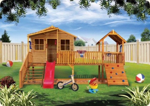 Fabulous backyard playhouse to delight your kids 24