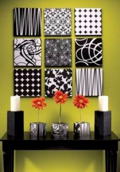 Simple diy wall art ideas for your home 19