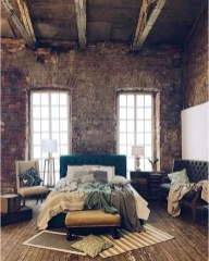 Vintage attic bedroom with wall of skylights41