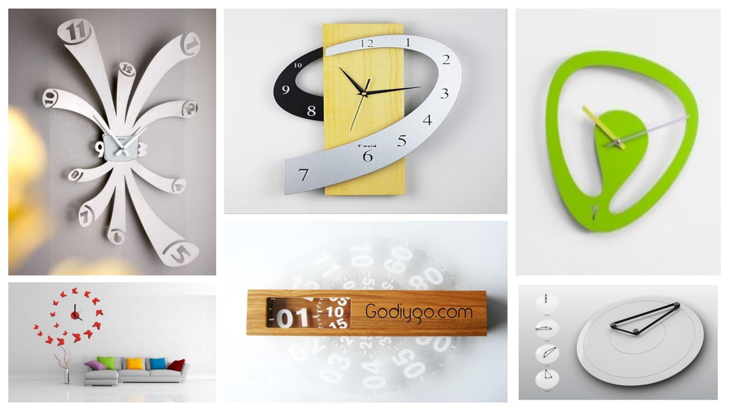 40 Unusual Modern Wall Clock Design Ideas - GODIYGO.COM