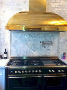 Adorable marble herringbone backsplash detail 09