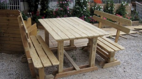 Best diy projects with pallet for your garden 14