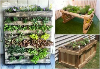 Best diy projects with pallet for your garden 19