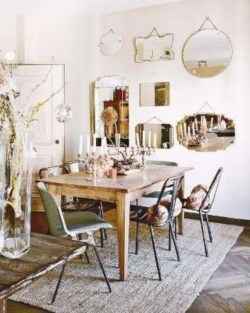 Boho rustic glam living room design ideas 02