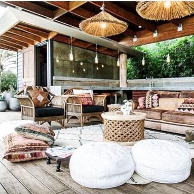 Boho rustic glam living room design ideas 25