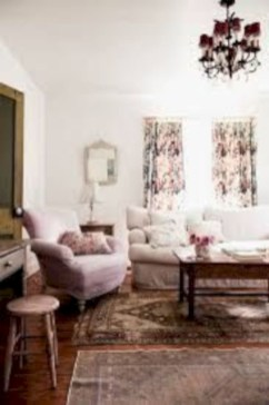 Boho rustic glam living room design ideas 26