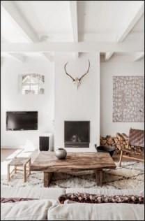 Boho rustic glam living room design ideas 28