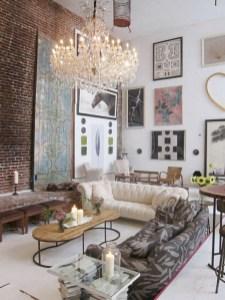 Boho rustic glam living room design ideas 29