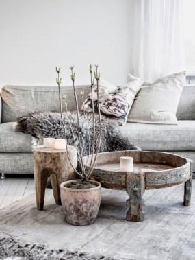 Boho rustic glam living room design ideas 32