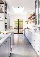 Gorgeous narrow kitchen with stunning details 01