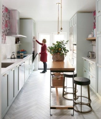Gorgeous narrow kitchen with stunning details 06