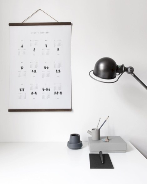 Modern wall calendars to get you organized for 2018 12