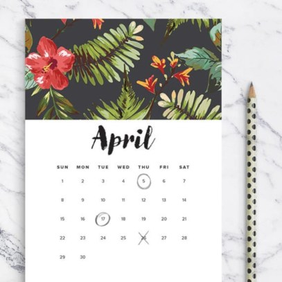 Modern wall calendars to get you organized for 2018 15