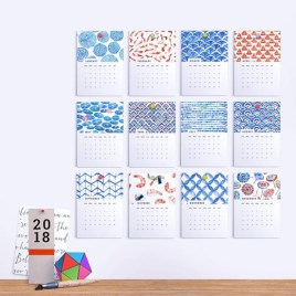 Modern wall calendars to get you organized for 2018 21