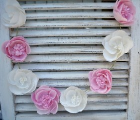 Simple and easy diy tissue paper flower garland 10