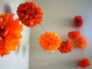 Simple and easy diy tissue paper flower garland 11