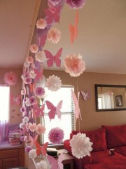 Simple and easy diy tissue paper flower garland 12