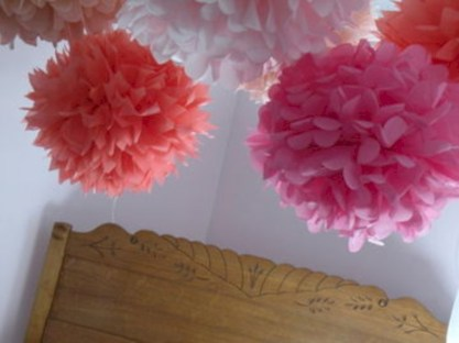 Simple and easy diy tissue paper flower garland 16