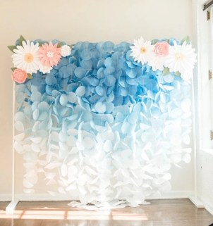 Simple and easy diy tissue paper flower garland 18