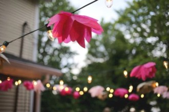 Simple and easy diy tissue paper flower garland 26