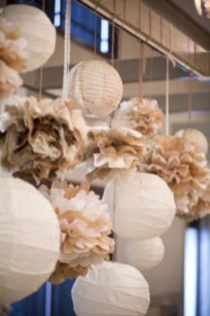 Simple and easy diy tissue paper flower garland 31