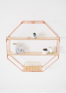 Stunning ideas to use copper pipes for your home decor 20