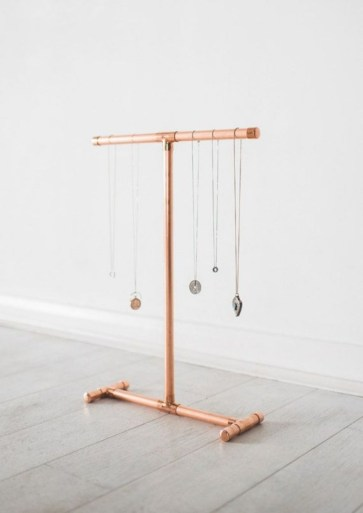 Stunning ideas to use copper pipes for your home decor 25