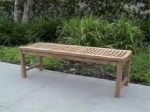 Teak garden benches ideas for your outdoor 09