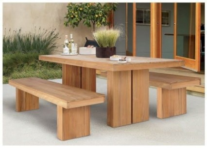 Teak garden benches ideas for your outdoor 16
