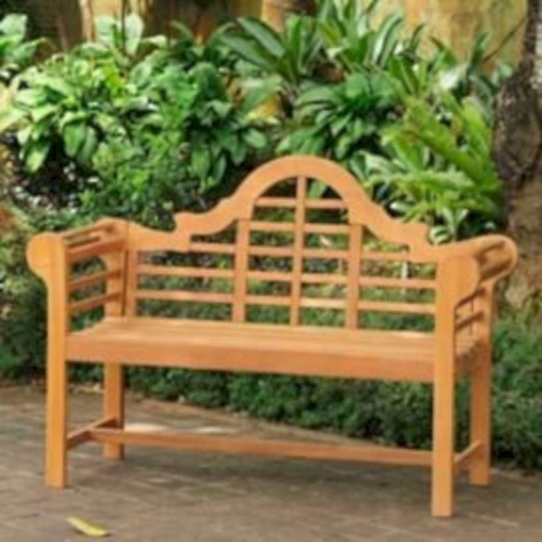 Teak garden benches ideas for your outdoor 31