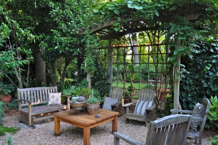 Teak garden benches ideas for your outdoor 34